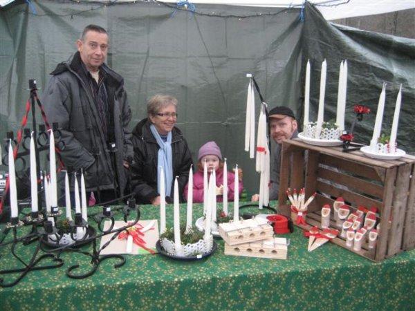 Handstöpta ljus, julmarknad 2008