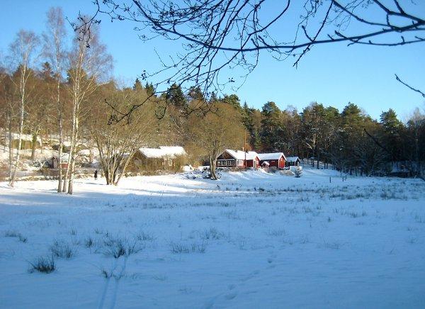 Bertilssons Stuga i vinterskrud
