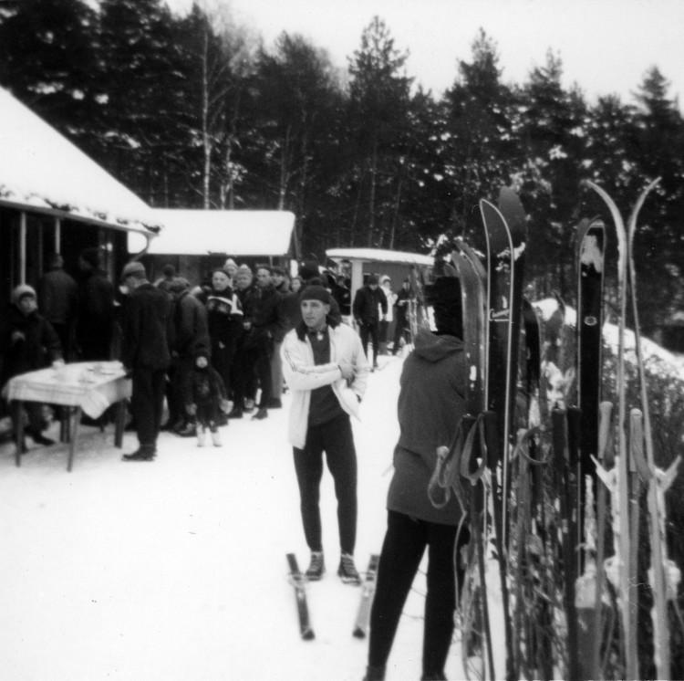 Kaffesugna en vinterdag år 1968