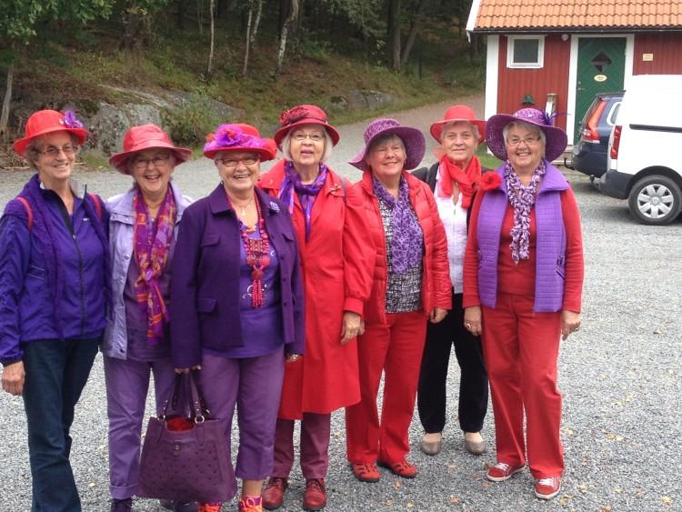 Röda hattarna på besök
