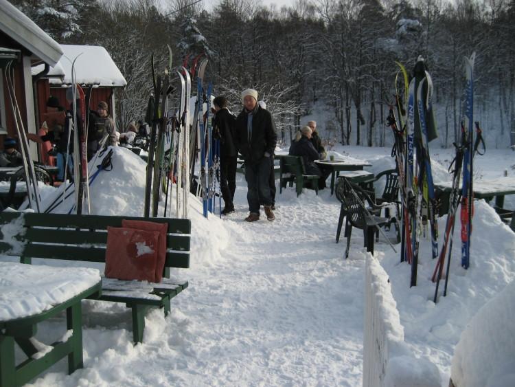 Många skidor...